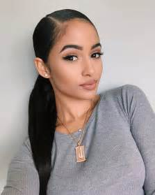 slick back weave hair stylea kayla phillip s slick back ponytail hair pinterest