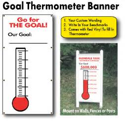 fundraising charts templates fundraising goal banner with progress thermometer