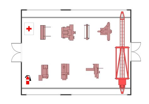 layout of building and equipment plant layout plans solution conceptdraw com