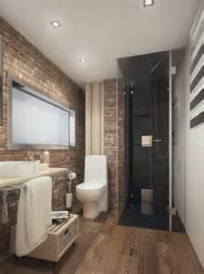 Cuartos de ba 241 o con ducha pequenos suelo de madera y pared de