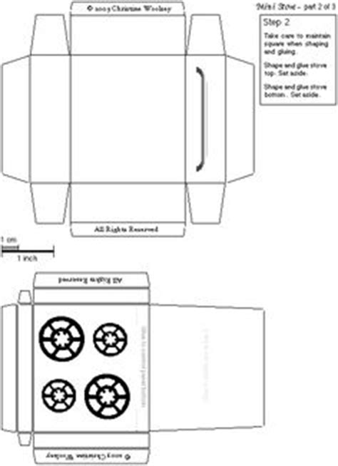 How To Make A Paper Refrigerator - dollhouse miniature printables mini cook stove
