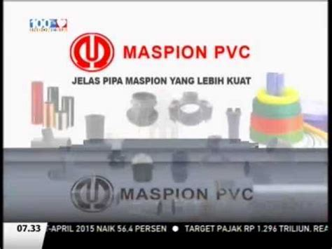 Pipa Maspion iklan maspion pvc with alim markus jimmly asshiddiqie