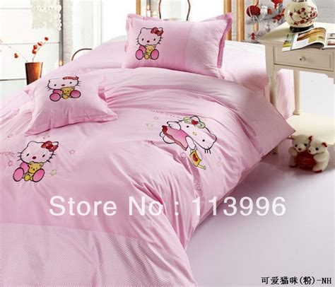hello kitty bed in a bag pink hello kitty cotton children s bedding set duvet cover cartoon set twin size