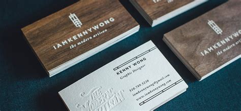 Wood Business Cards