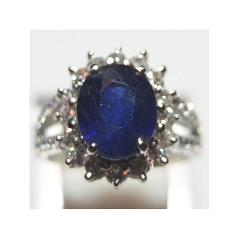 Cincin Cincin Blue Sapphire by Cincin Wanita Silver Royal Blue Sapphire Ring 6us