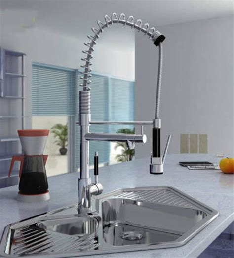 zeus professional chrome kitchen tap with pull out spray
