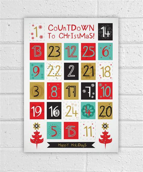 Printable Advent Calendar Holiday Diy Christmas Countdown How To Make A Advent Calendar Template