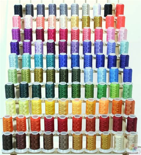 thread colors new 100 babylock colors poly machine embroidery