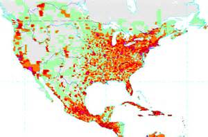 america population density map
