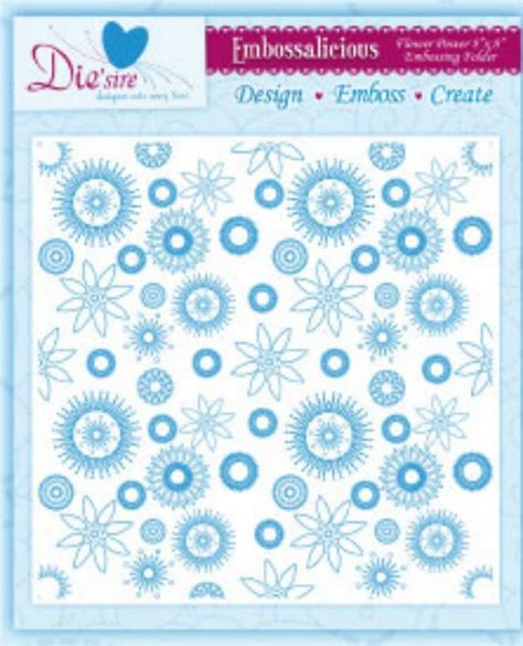 design drill flower power studio flower power 8x8 crafters companion embossalicious