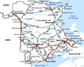 road map of new brunswick canada history of new brunswick