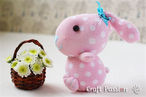 sock bunny free sewing pattern tutorial craft