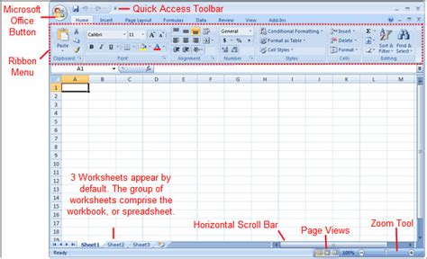 How To Do A Spreadsheet On Excel 2007 by Excel 2007 Setting Up Your Excel Environment Page 2