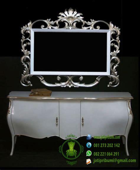 Cermin Warna drawer cermin ukir warna silver putih emas jati pribumi