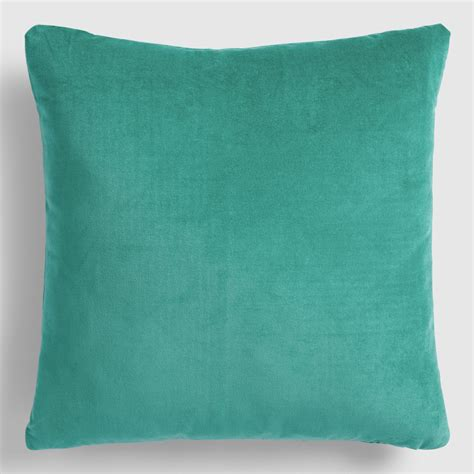 Velvet Throw Pillows Teal Velvet Throw Pillow World Market