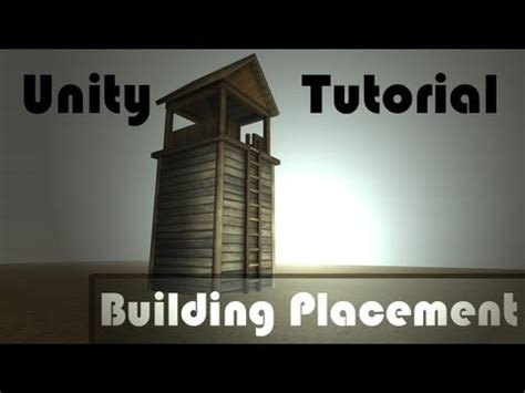 unity tutorial forum building placement tutorial strategy game style unity
