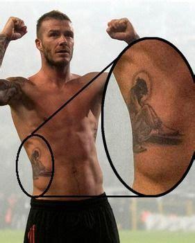 tattoo jesus david beckham becks shows off new jesus tattoo daily star