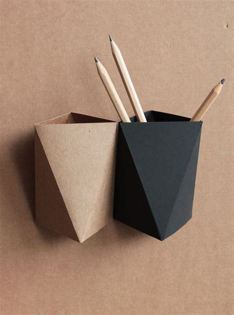 Origami Paper Holder - 25 best ideas about pen holders on pencil
