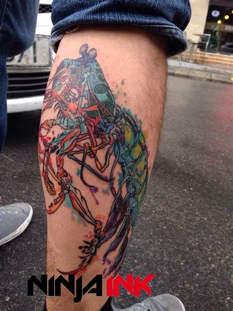mantis tattoo ink mantis shrimp water color design by nini