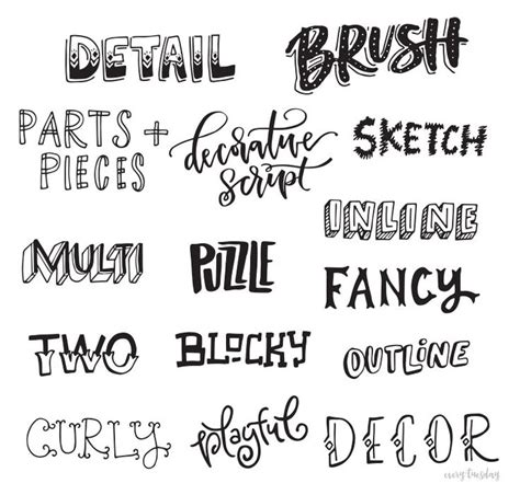 Letter Different Styles resultado de imagen para types of letters styles