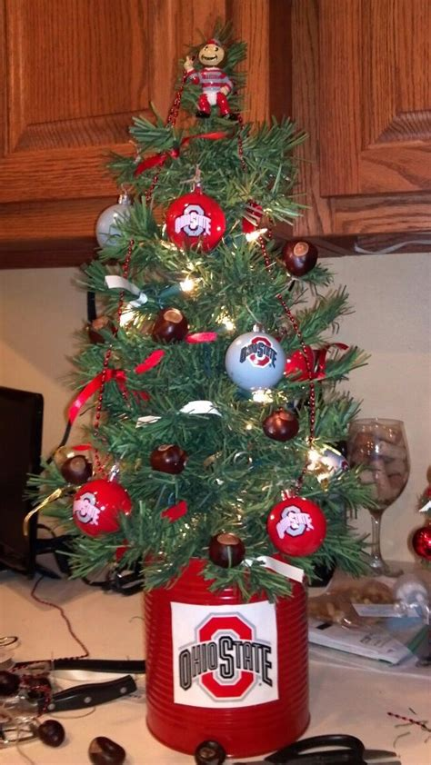 ohio state buckeye christmas tree ohio state buckeyes