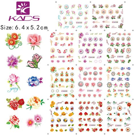 Diskon Water Decal Nail Sticker 1 11sheet set beautiful flowers nail sticker decals