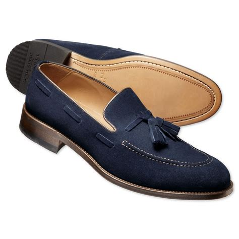 mens loafers with tassels navy suede tassel loafers s business shoes from