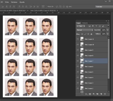 varias imagenes en una foto tutorial plantilla para fotos de carnet con objetos