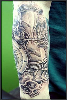 urban tattoo sleeve designs neo traditional hourglass vigilante artist