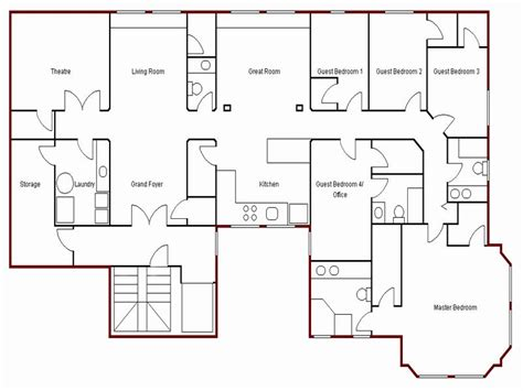 simple floor plan of a house home design and style