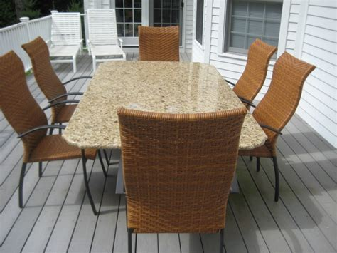 Granite Patio Tables Granite Patio Table Other Metro By Marble Doctors Llc