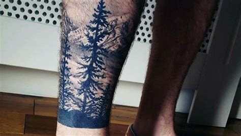 nature tattoos for men 70 pine tree ideas for wood in the wilderness