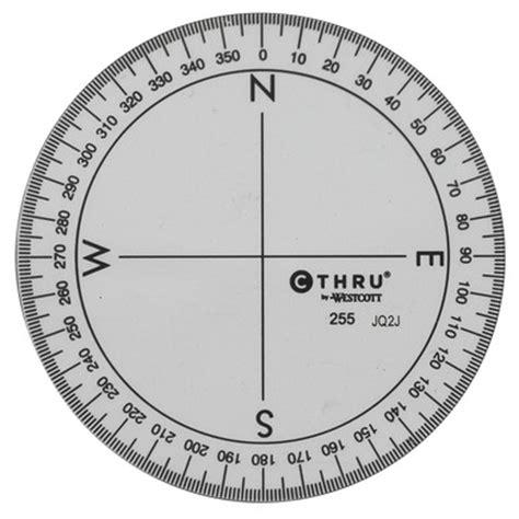circular protractor template westcott c thru 360 176 circular protractor 3 5 quot clear