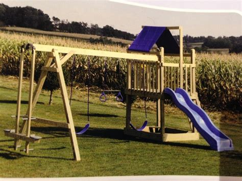 4553 Wooden Swing Set For Sale 1641 Frederick 4 Outdoor