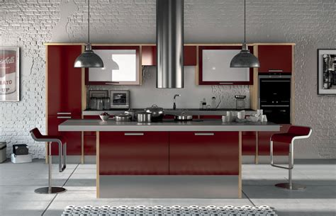 Kitchen Dining Island by Premier Duleek Kitchen Doors In High Gloss Burgundy By