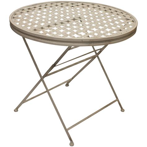 Maribelle Round Folding Metal Garden Patio Dining Table Folding Patio Dining Table