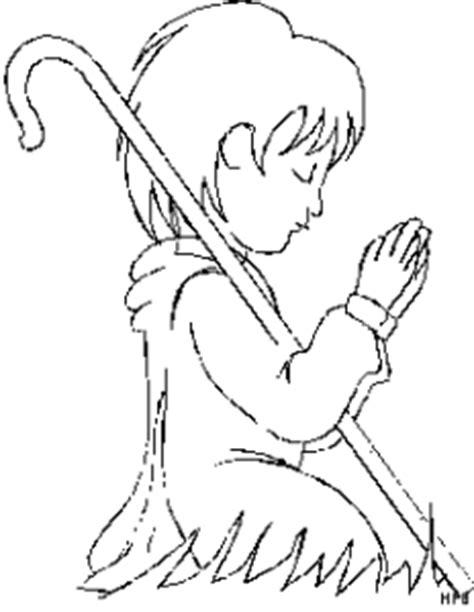 hirte  beten ausmalbild malvorlage gemischt