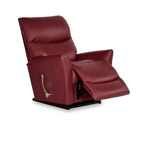 And Recliner by Lazboy 10 765 Rowan Leather Rocker Recliner Home