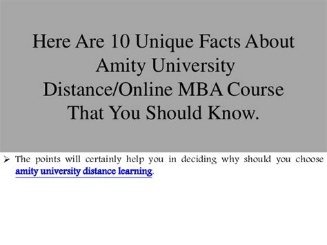 Amity School Of Distance Learning Mba by 10 Unique Facts Of Distance Mba Course From Amity