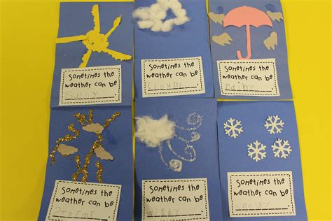 weather crafts for mrs s kindergarten morning centers this week