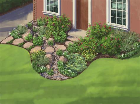 simple landscaping ideas hgtv landscape plan water wise garden hgtv
