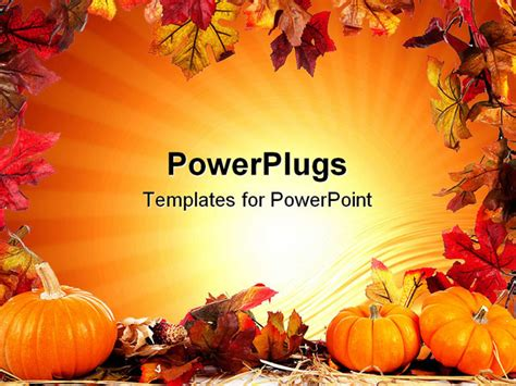 fall powerpoint templates free gallery fall border template