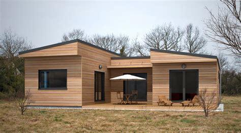 Micro Cottage With Garage maison ossature bois contemporaine t3 plain pied 49m2