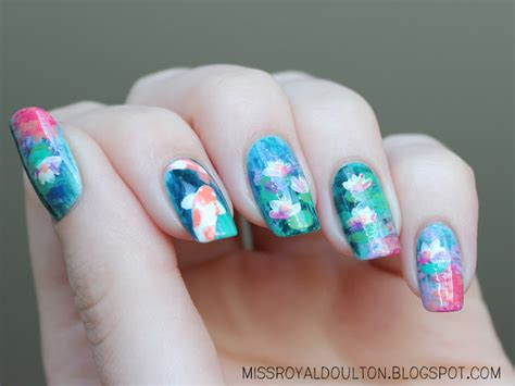 nails design zen royal milk tea zen pool nail art