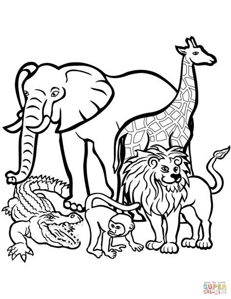free coloring page zoo zoo animal coloring pages to print www elvisbonaparte