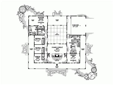 hacienda style floor plans similar hacienda style floor plan architecture pinterest