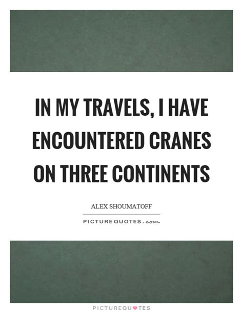 in my travels i encountered cranes on three