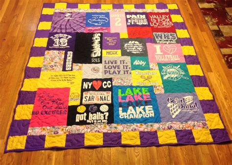 Custom Tshirt Quilt by Made Custom Embroidered High School College Colors
