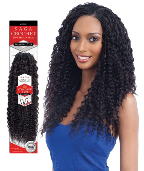 human hair crochet braids saga standard type 100 human hair crochet braid super