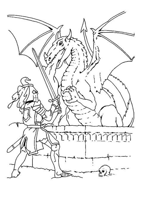 Coloriage dragon chevalier sur Hugolescargot.com